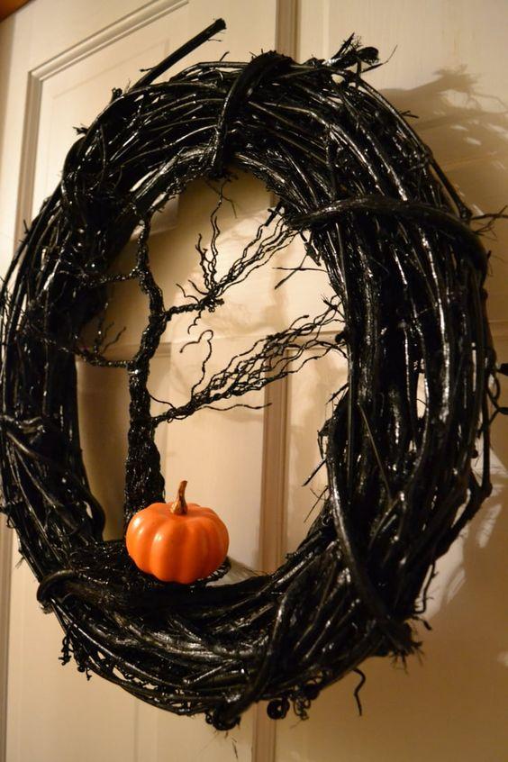 an amazing front door wreath
