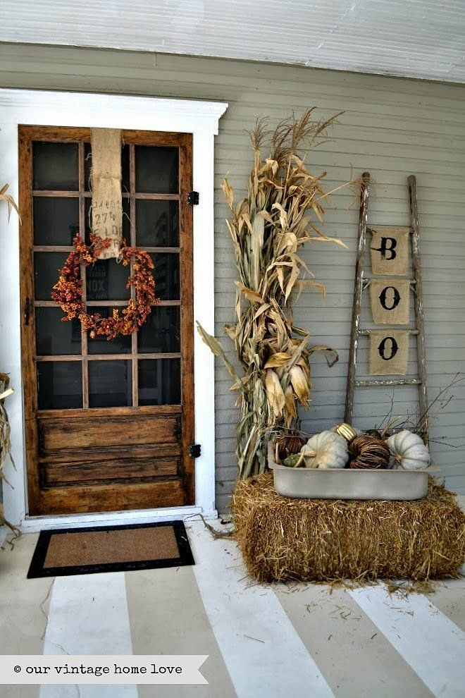 cozy thanksgiving porch decor ideas - Porch Decor