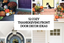 52 cozy thanksgiving front door decor ideas cover
