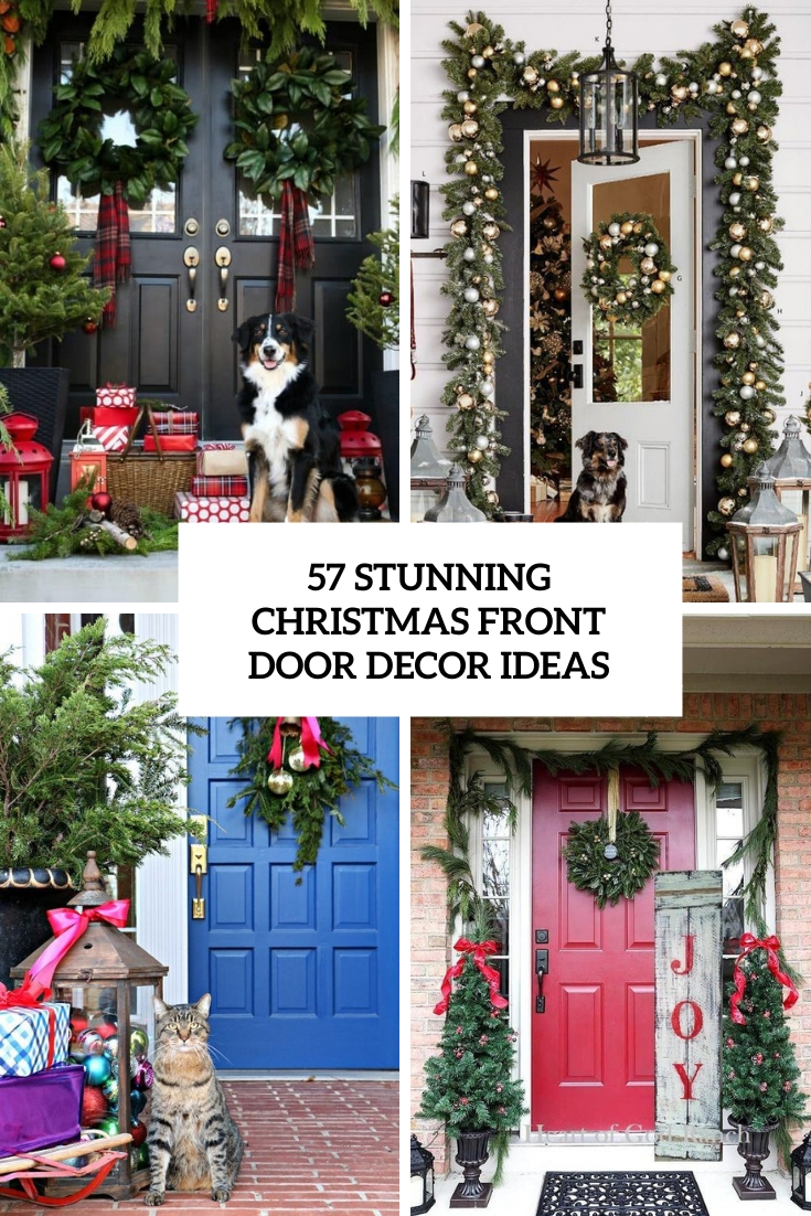 57 Stunning Christmas Front Door Décor Ideas
