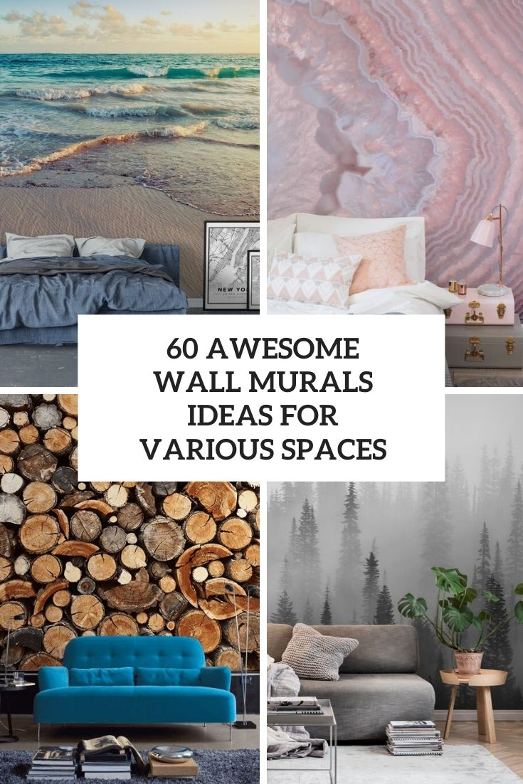 awesome wall murals ideas for various spaces cover