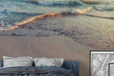 a beach wall mural makes your bedroom a dreamy space to sleep in and brings relaxation to the room