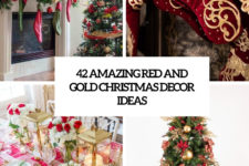 42 amazing red and gold christmas decor ideas cover
