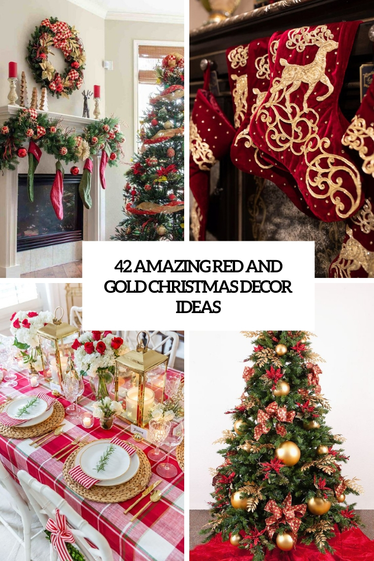amazing red and gold christmas decor ideas cover