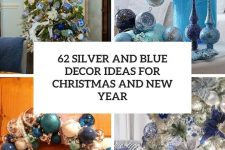 62 silver and blue decor ideas for christmas and new year cover