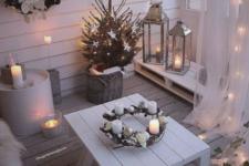 a cool holiday balcony decor