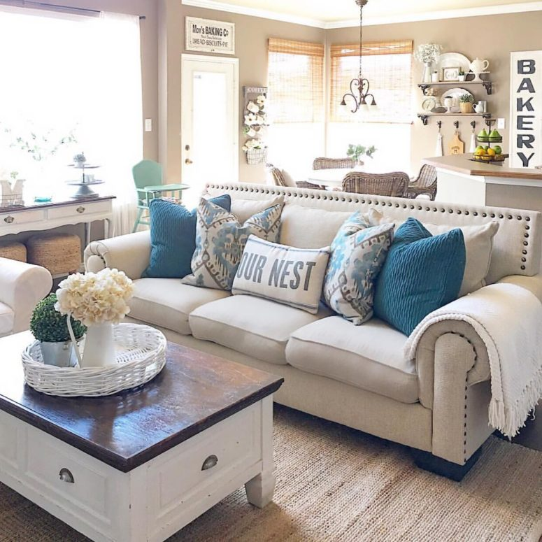 Modern Farmhouse Living Room: 45 Comfy Farmhouse Living Room Designs To Steal