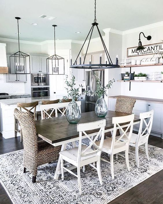 62 Farmhouse Dining Rooms And Zones To Get Inspired - DigsDigs