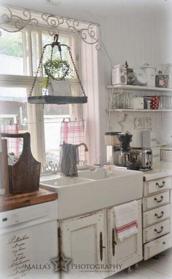 Country Shabby Chic Kitchen Cabinets