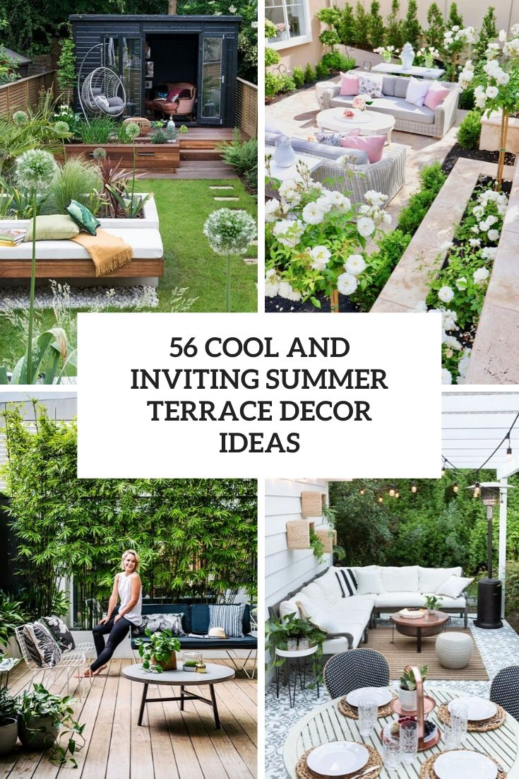 56 Cool And Inviting Summer Terrace Décor Ideas