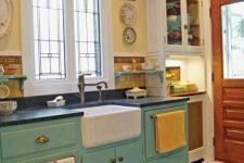 a cute retro kitchen design