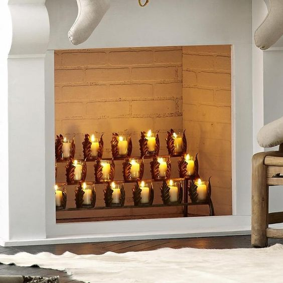 47 Fireplace Designs Ideas: 47 Adorable Fireplace Candle Displays For Any Interior