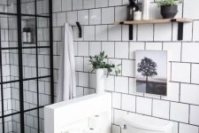a cozy neutral bathroom design