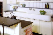 a cute neutral vintage kitchen design
