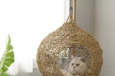 a swing rattan sweaving pod bed is a cool and stylish piece to match your interior
