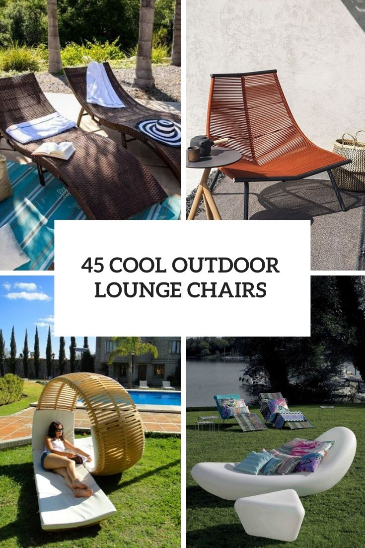 cool outdoor lounge chairs cover
