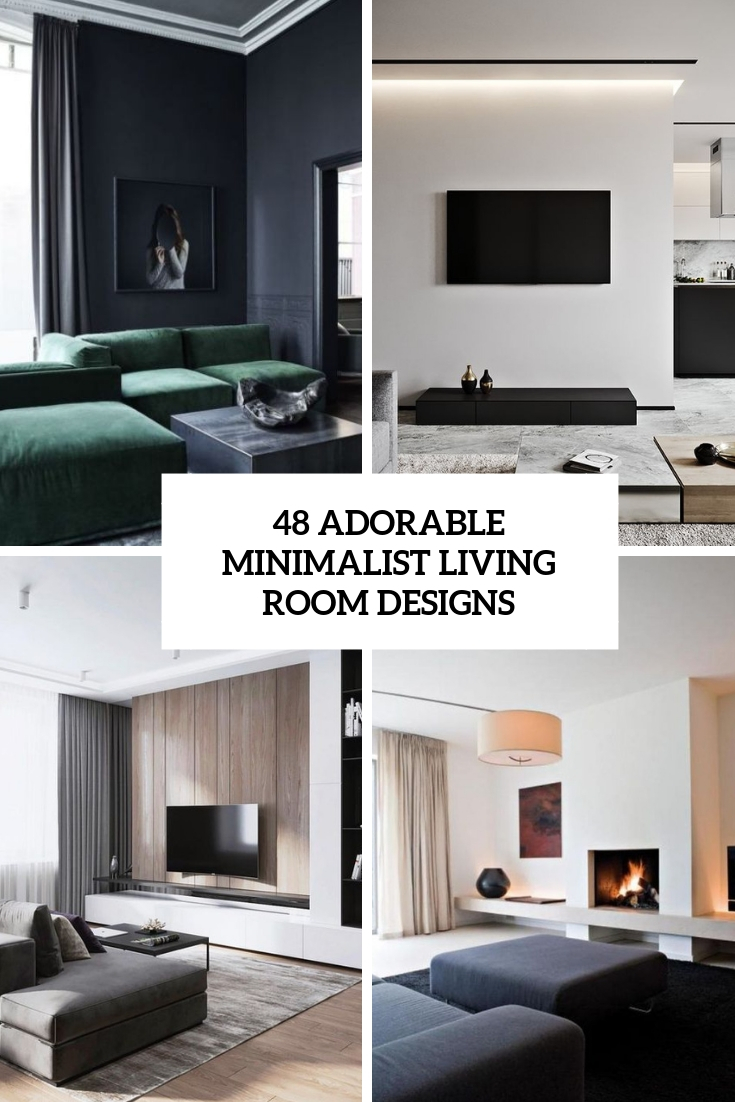 adorable minimalist living room designs cover