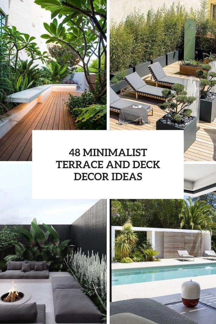 48 Minimalist Terrace And Deck Decor Ideas