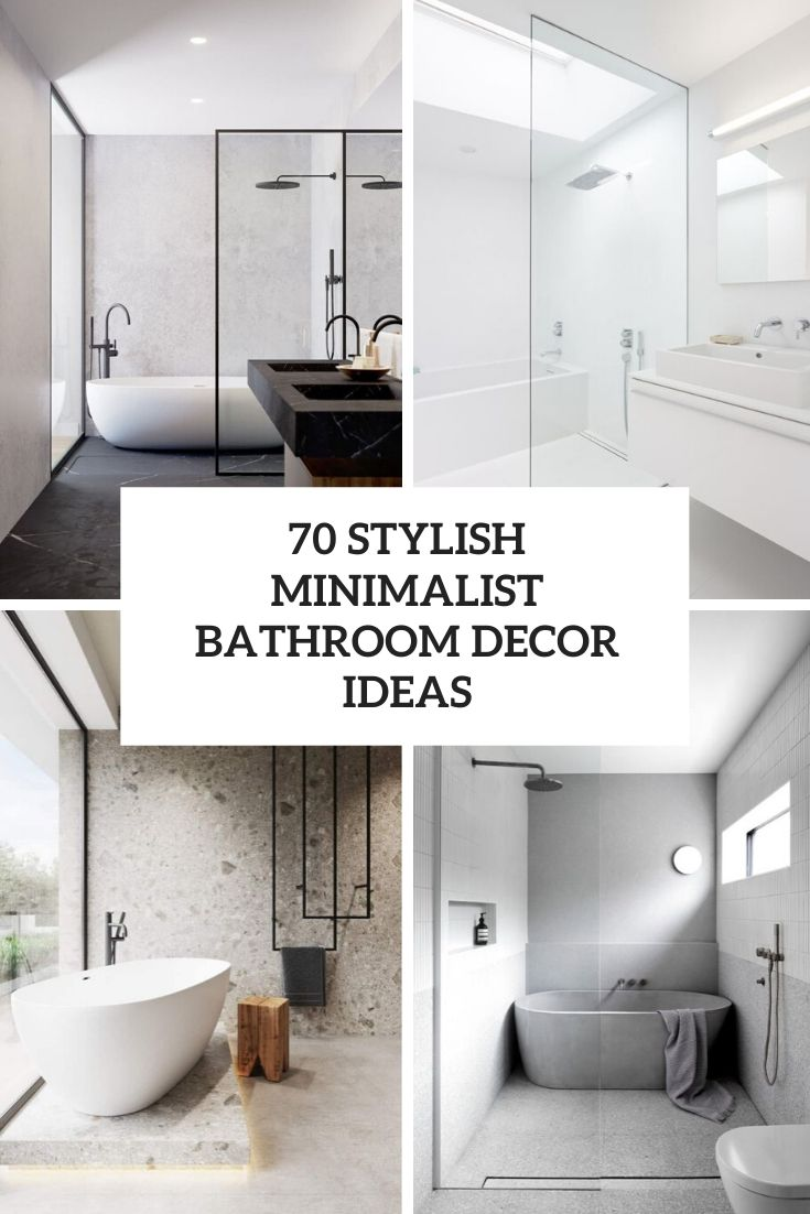stylish minimalist bathroom decor ideas cover