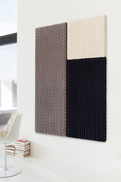creative patterned acoustic panels in various colors for insulating your home walls