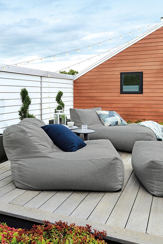 upholstered loungers styled as bean bag chairs are amazing for any modern or contemporary space and are very comfy