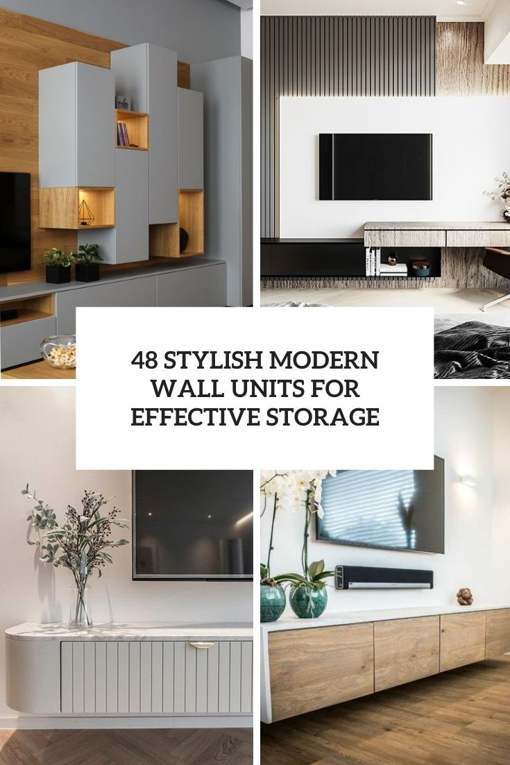 48 Stylish Modern Wall Units For Effective Storage