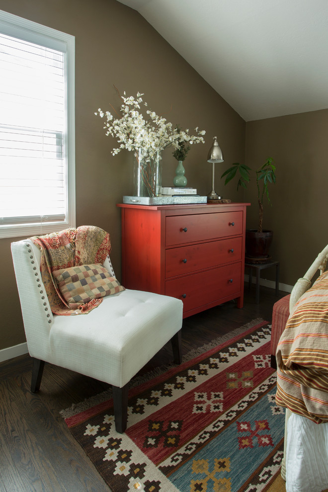 Red IKEA Hemnes dresser would add a splash of color to any room. (Margot Hartford Photography)