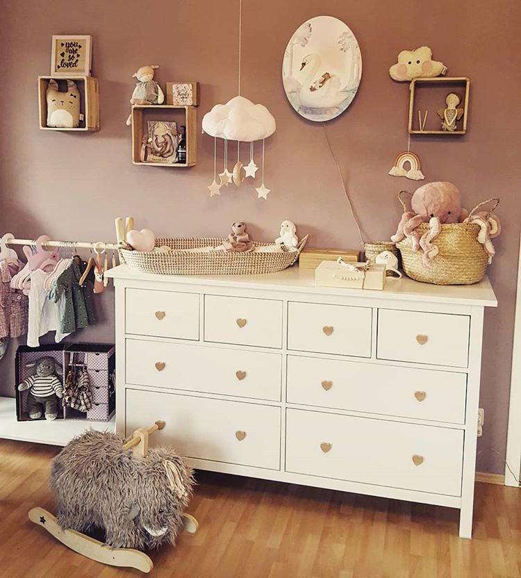 "Add some ""love"" to the dresser if you want to create a perfect nursery for a coming baby. (via @vanessa1st)"