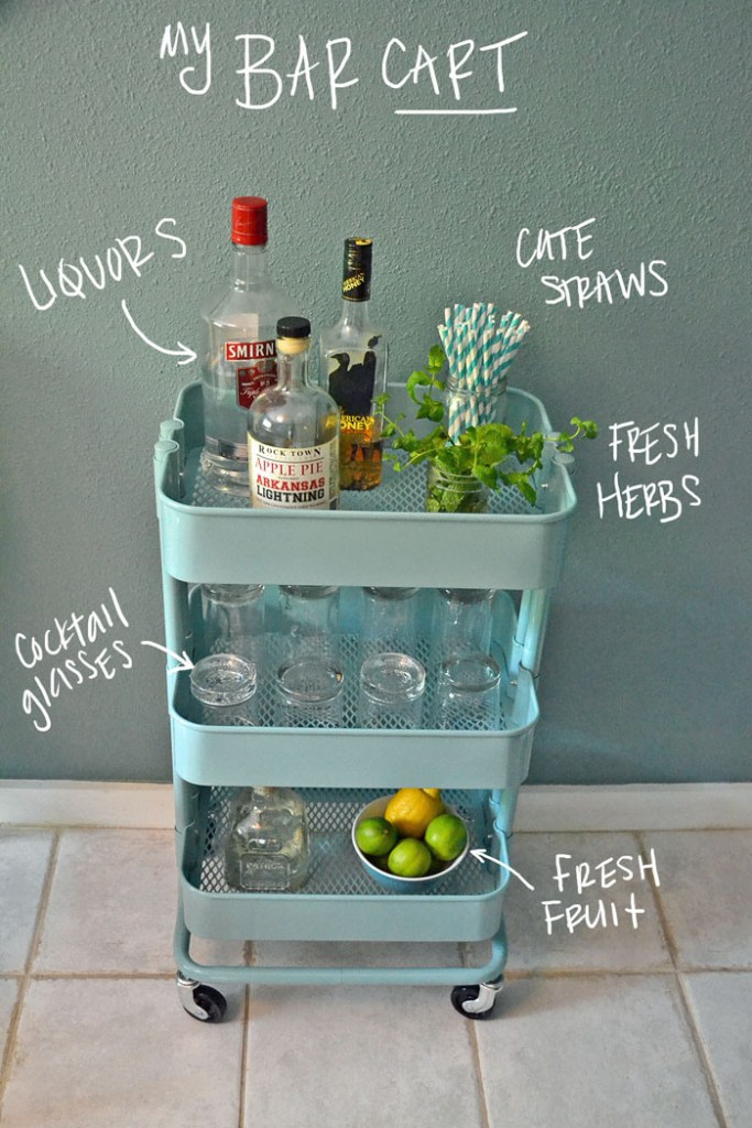 It's a damn good cocktail bar cart.