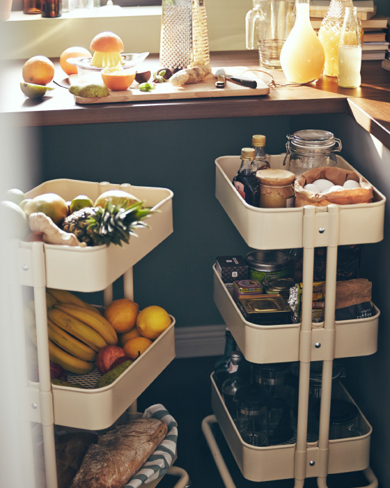 You could use it as fruit and bread storage on a kitchen.