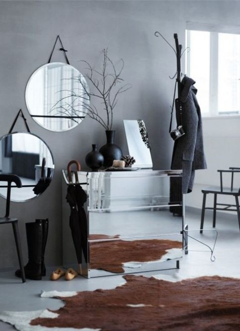 a mirror IKEA Malm hack is a stylish modern idea, pair it with several mirrors for a brighter look