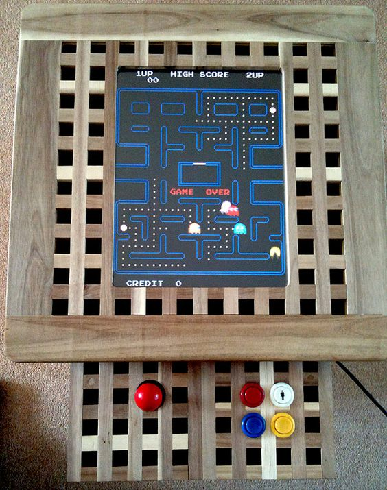 an Ikea Hol Arcade Machine is a fun and cute idea to use an IKEA Hol table