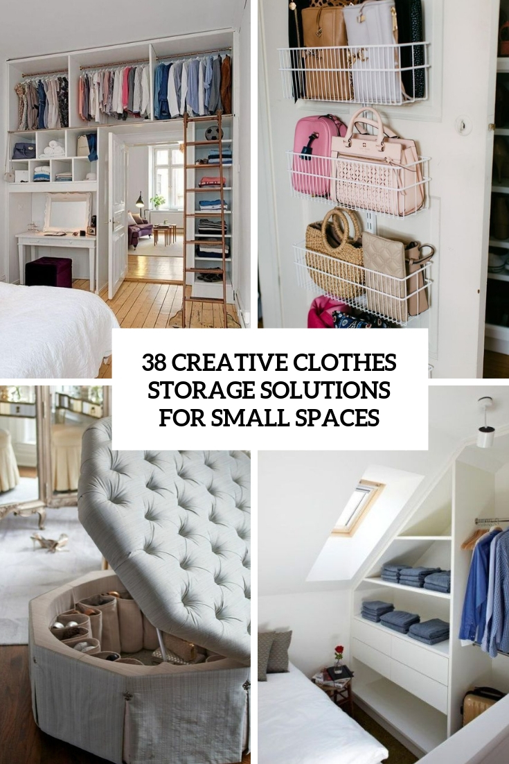 creative clothes storage solutions for small spaces cover