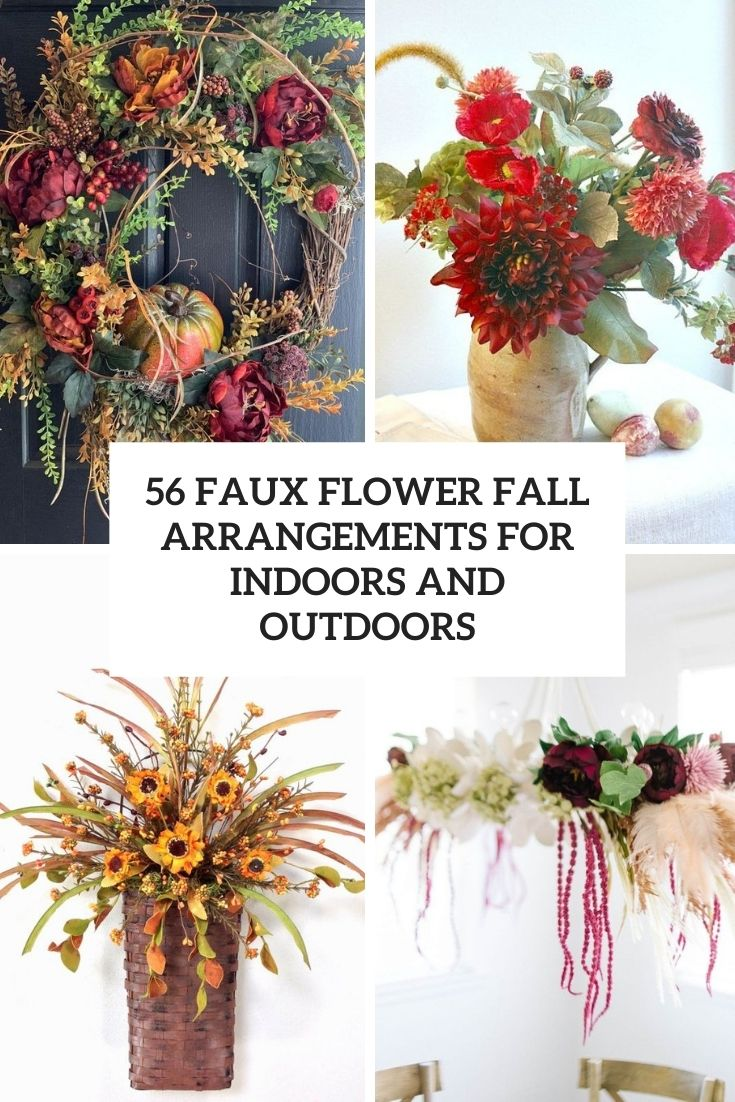 faux flower fall arrangements for indoors and outdoors cover