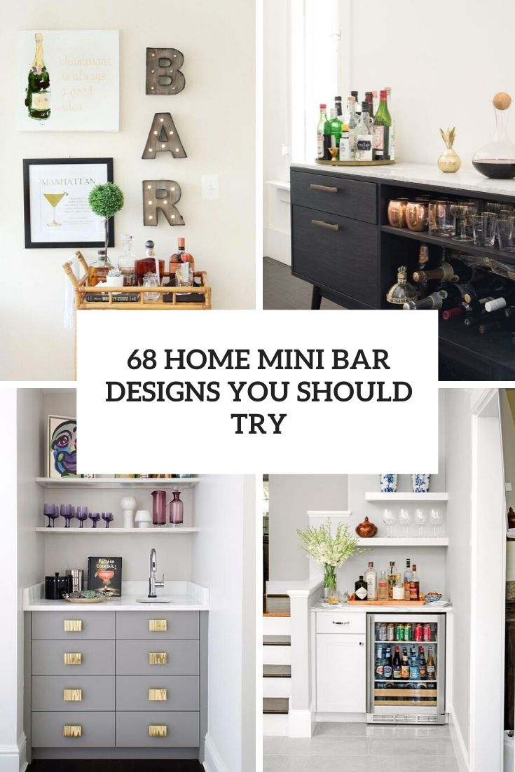 68 Home Mini Bar Designs You Should Try