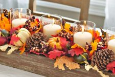 a budget friendly yet super large fall centerpiece
