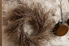a twig wreath is a cool rustic idea for the fall and can be used not only in the fall but also in other seasons