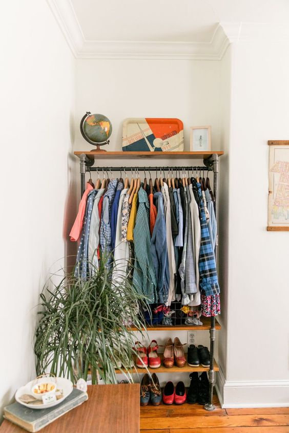 38 Creative Clothes Storage Solutions For Small Spaces Digsdigs