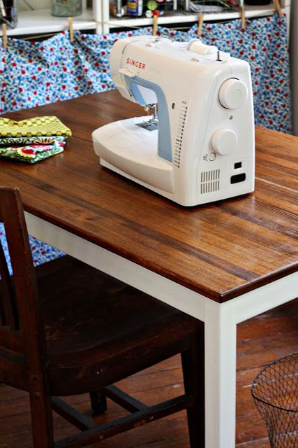 Any warm brown stain would look great on a tabletop if you combine it with white table legs.