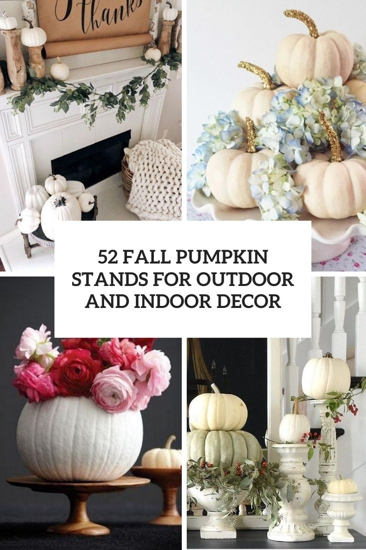 fall pumpkin stands for outdoor and indoor decor cover