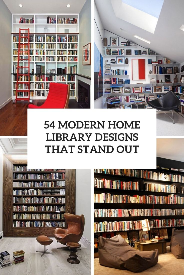 54 Modern Home Library Designs That Stand Out