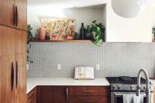 mid-century modern kitchens