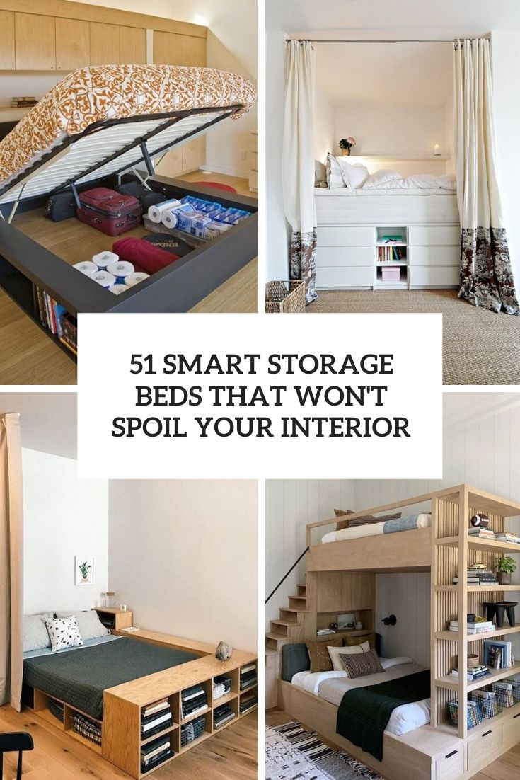 51 Smart Beds With Storage Space