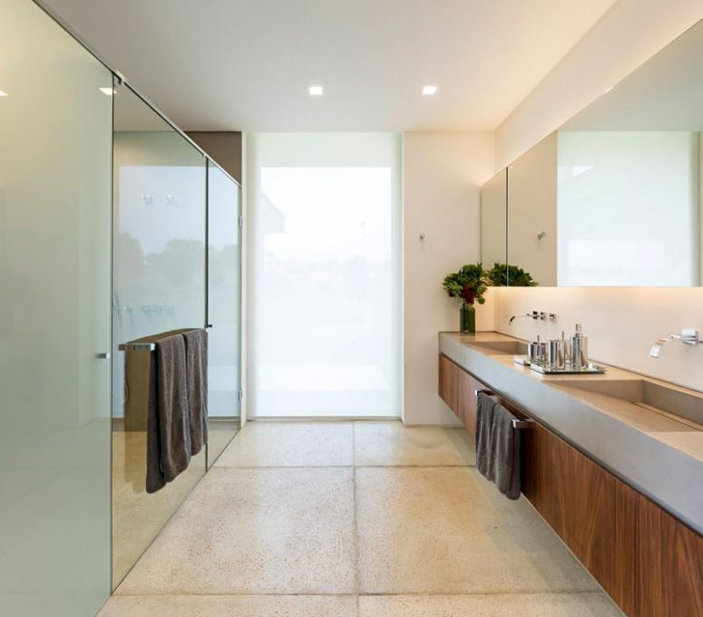 a frosted glass window from floor to ceiling will keep your bathroom more private yet let natural light in