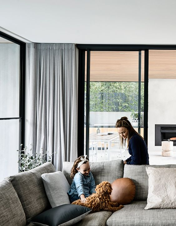 modern and stylish silver grey curtains will keep private every space you want and won't make it look smaller