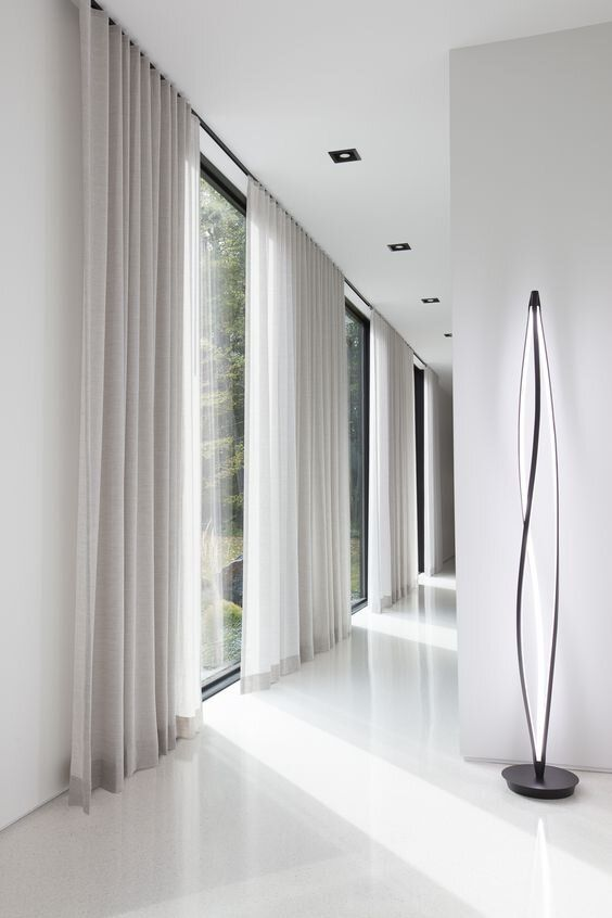 simple modern neutral curtains are the easiest and coolest way to make your space private and protect it from excessive sunshine