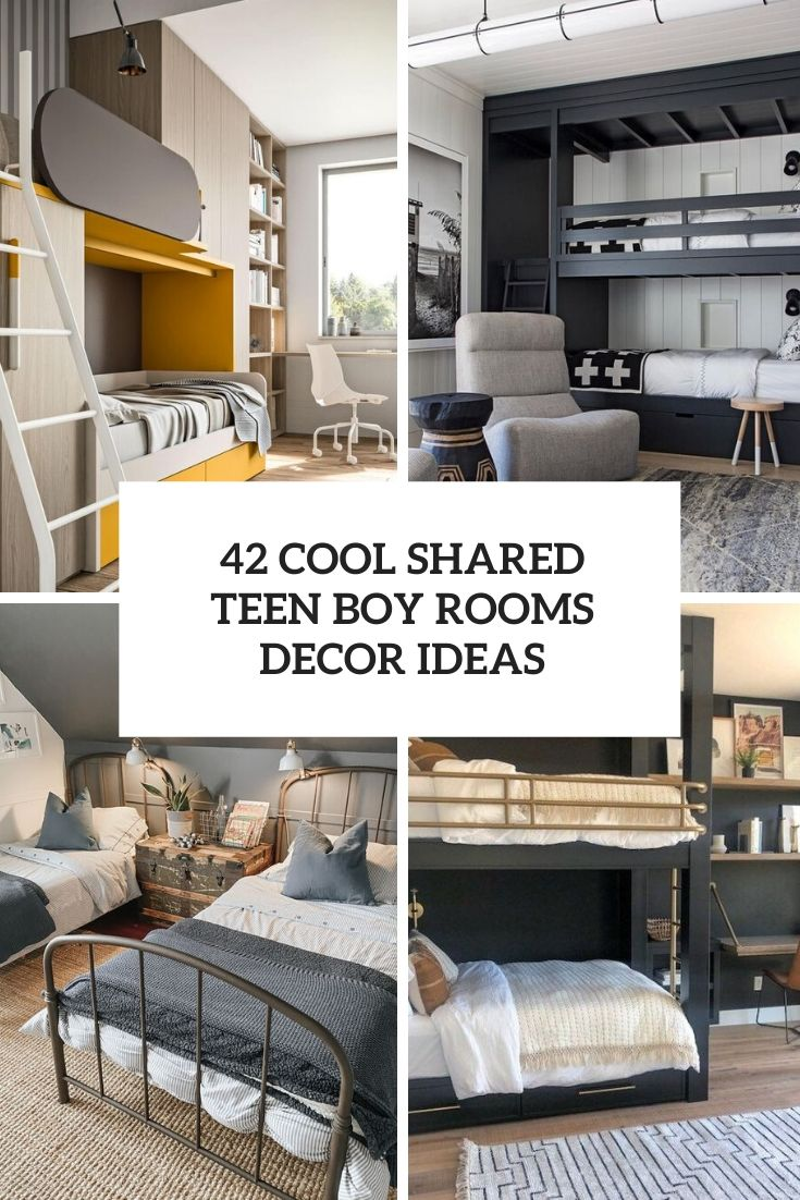 42 Cool Shared Teen Boy Rooms Décor Ideas