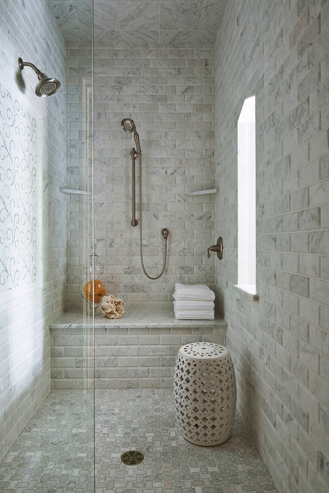 50 Cool And Eye-Catchy Bathroom Shower Tile Ideas - DigsDigs