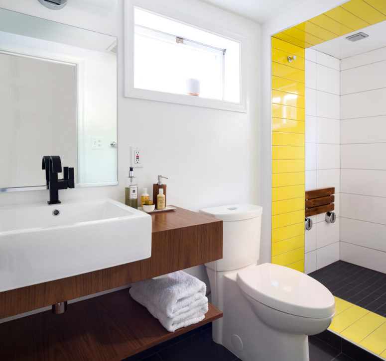 a touch of yellow would make any boring room a happy place (Case Design/Remodeling, Inc.)