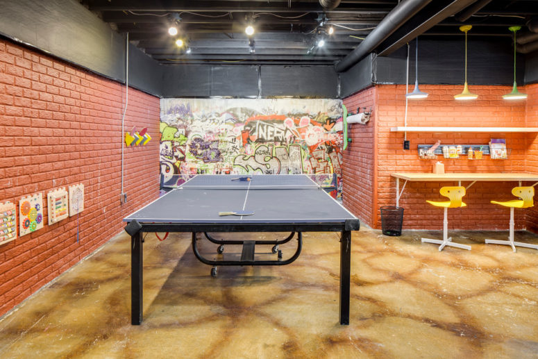 ping pong is a perfect game for a basement without any wind